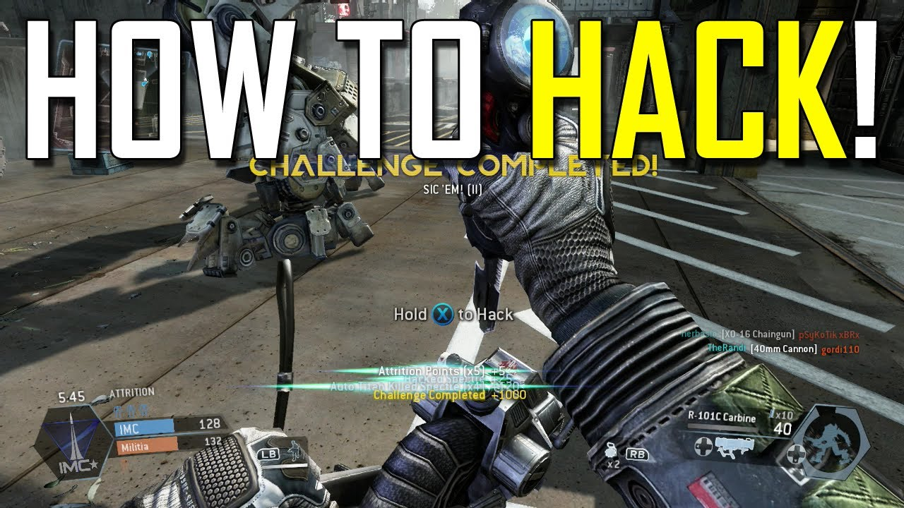 Titanfall Gameplay How To Hack A Spectre Youtube