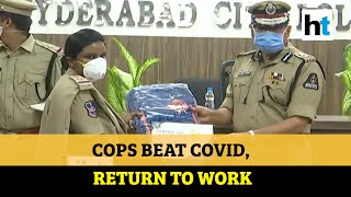 Watch: Hyderabad women cops return to work after recoverin..