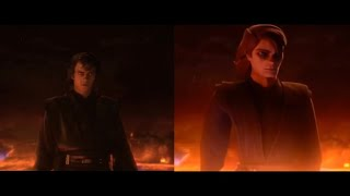 Live-Action vs Clone Wars (Anakin v Obi-Wan) (by HELLO THERE Animation) 1080p