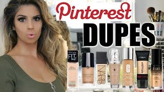 PINTEREST DUPES TESTED Foundations | Laura Lee