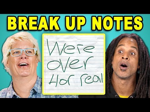 PARENTS READ 10 BREAK UP NOTES (REACT)