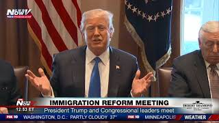 MUST WATCH: President Trump Talks Immigration Reform With Democrats (FNN)