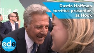 Dustin Hoffman terrifies reporter as Captain Hook on the red carpet