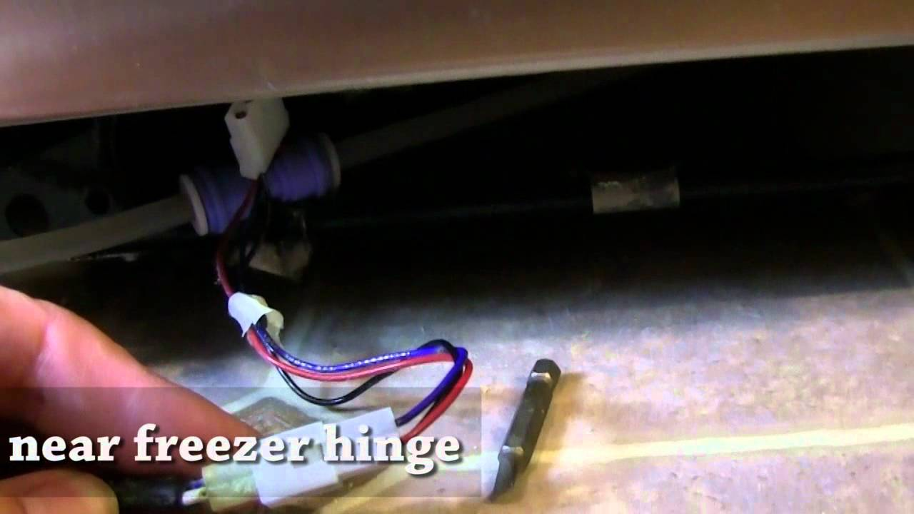 fixing ge side by side refrigerator water dispenser youtube. Black Bedroom Furniture Sets. Home Design Ideas