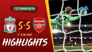 Liverpool 5-5 Arsenal (5-4 on penalties) Reds win dramatic 10-goal thriller   Highlights
