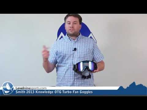 Smith 2013 Knowledge Otg Turbo Fan Goggles Youtube