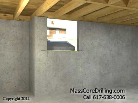 Concrete Core Drilling For Dryer Vent And Pellet Stove