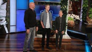 L.A. Rams Players Make a Surprise Appearance on Ellen