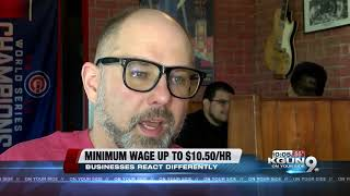 Minimum wage goes up, some business owners have to adjust