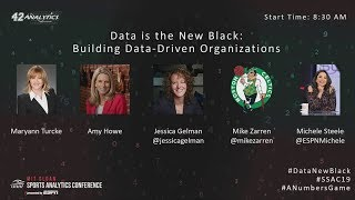 SSAC19: Welcome Remarks & Data is the New Black: Building Data-Driven Organizations