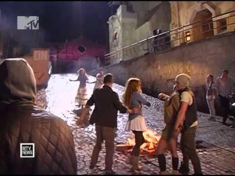 Анна Семенович   2011 съемки клипа ''Не Мадонна'' News Блок MTV