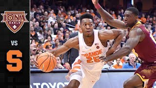 Iona vs Syracuse Basketball Highlights (2017)