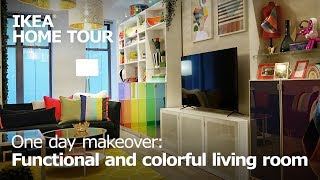Functional & Colorful: Small Living Room Ideas - IKEA Home Tour