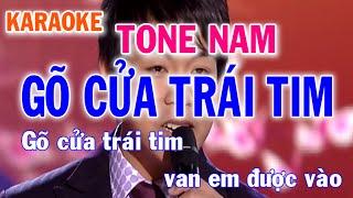 Karaoke Gõ Cửa Trái Tim Tone Nam Quang Lê Mai Thiên Vân l Nhật Nguyễn