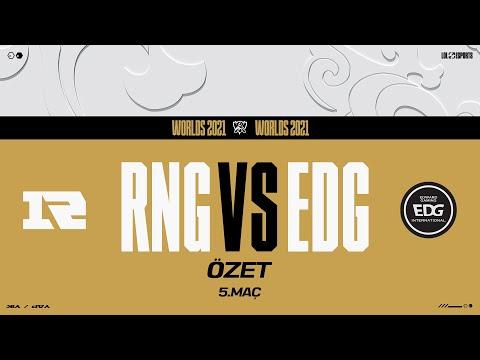 EDward Gaming (EDG) vs Royal Never Give Up (RNG) 5. Maç Özeti | Worlds 2021 Çeyrek Final