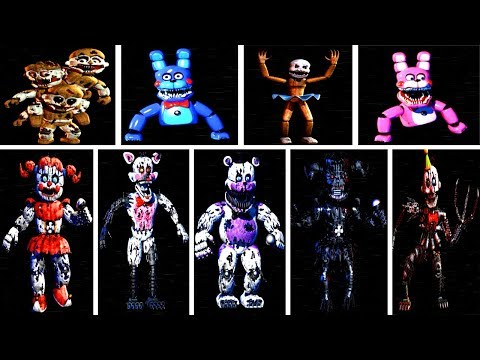 baby s nightmare circus all animatronics all jumpscares extras