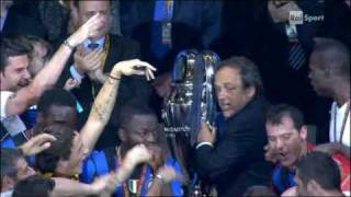 Premiazione Finale Champions League 2010 Inter Campione D'Europa - Premiazione