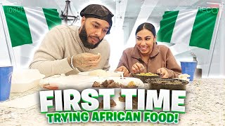 WE TRIED AFRICAN FOOD FOR THE FIRST TIME!! (Fufu, Egusi, Goat)