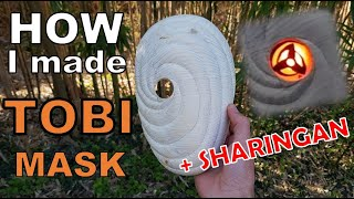 Make the MASK of OBITO + SHARINGAN in WOOD - NARUTO