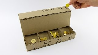 DIY Coin Sorting Machine from Cardboard