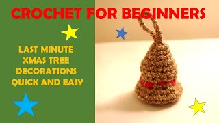 JINGLE BELLS XMAS DECORATIONS - 30-minute crochet