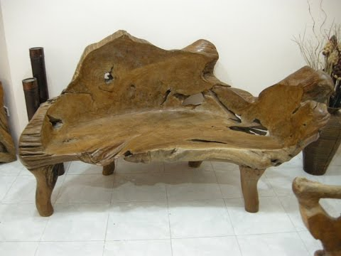 Teak Wood Bench Teak Root Bench Teak Slab Furniture