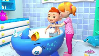 Bath Song for Babies – Wash Your Head Song – on HeyHop Kids