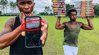 THIS PIZZA MAN RUNS THE 40 YARD DASH FASTER THAN NFL PLAYERS!