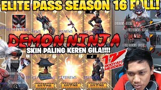 WAJIB BELI!! ELITE PASS NINJA SEASON 16! KEREN BANGET! - Garena Free Fire