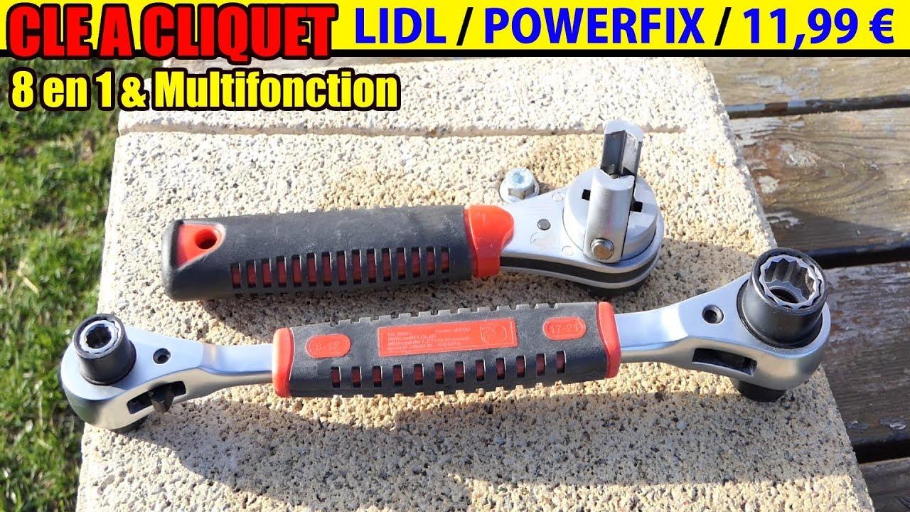 Clé A Cliquet Lidl Powerfix 8 En 1 Et Multifonction Ratchet Spanner Ratschenschlüssel Test