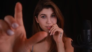 ASMR Semi-intelligible Whispers & Unique Hand Movements ~ UP-CLOSE & PERSONAL