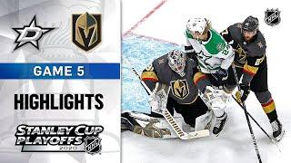 NHL Highlights | WCF, Gm5 Dallas Stars @ Vegas Golden Knights - Sept. 14, 2020