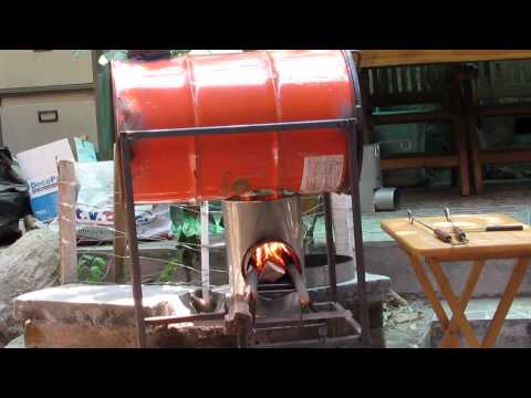 Asador de pimientos motorizado musica movil - Como hacer una cocina de lena ...