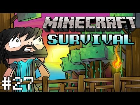 Minecraft: Survival Let's Play Ep. 27 - Fluffy's New Digs - Smashpipe Games