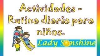 Actividades - Rutina diaria para niños