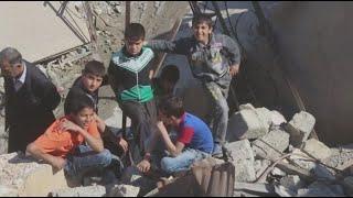 أفراح العراقيين على أنقاض ما خلفه داعش من دمار     -