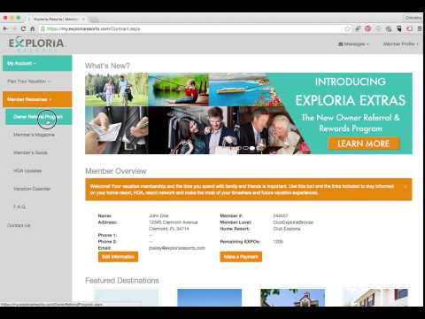 Exploria Extras: How to login to your account