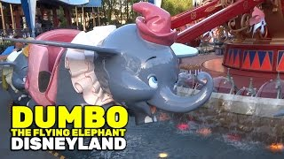 Dumbo the Flying Elephant full ride at Disneyland