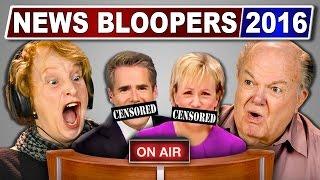 ELDERS REACT TO NEWS BLOOPERS 2016