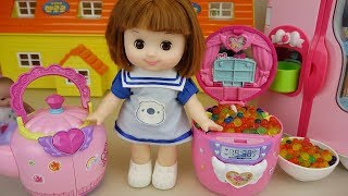Baby doll kitchen pot and jar surprise eggs toys baby Doli play