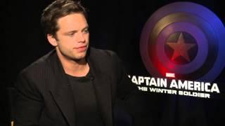 "Captain America: The Winter Soldier: Sebastian Stan ""Bucky Barnes"" Official Movie Interview"
