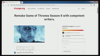 Today's Dish: 'Game of Thrones' Fan Petition for Final Season Do-Over