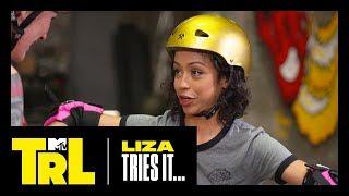 Liza Koshy Learns How to Roller Derby   Liza Tries It   TRL