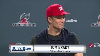 Tom Brady Patriots vs. Chiefs AFC Championship Press Conference