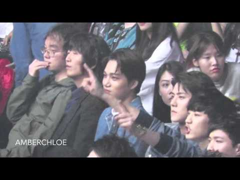 20160409 Top Chinese Music Awards_EXO  KANGTA Stage Reaction