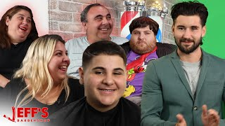 1000 POUND FAMILY REUNION WEIGH IN | Jeff's Barbershop