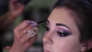 Glittery Eyes Soft smokey Model Look, Makeup by Falak video 17