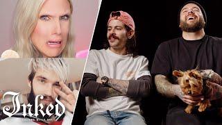 Tattoo Artists React to Jeffree Star, PewDiePie, and Other YouTuber's Tattoos | Tattoo Artists React