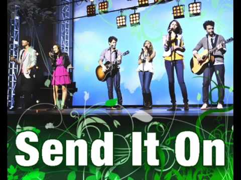 Baixar Send It On - Jonas Brothers, Demi Lovato, Miley Cyrus, and Selena Gomez (Full / HQ/ Lyrics)