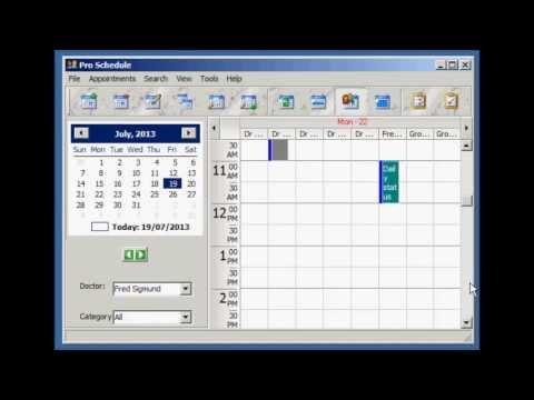 Pro Schedule - Windows Appointment Scheduling Software